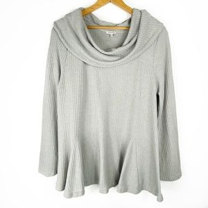 JODIFL Gray Cowl Neck Swing Tunic, L, NWOT
